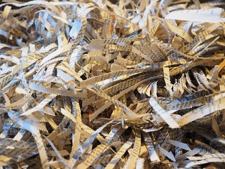 Shredder, Crushed, Paper, Flakes, Paper Strip, Shredded