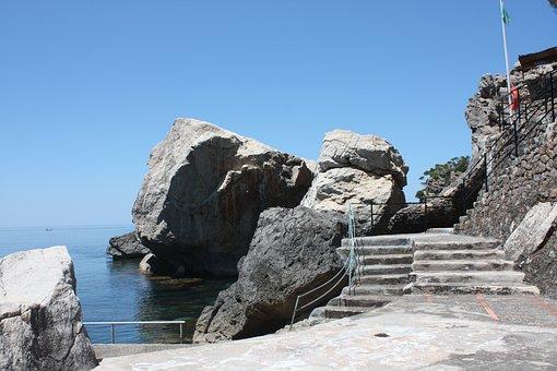 Crutch, Ladder, Sea, Sea pool