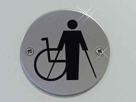 Signs, Disabled, Handicap, Wheelchair, Crutch