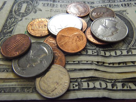 Money, Dollars, Currency, Pennies, Cash, Penny, Coins