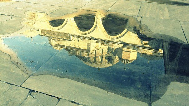 Reflection, The Mirror, Day, Turkey, White, Detail