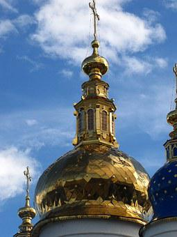 Dome, Cross, Church, Old Town, Style, Architecture