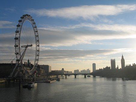 London, Thames, Eye, Big, City, River, England