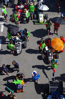 Racing Car, Summer, Event, Parasols, Human, Sunshine