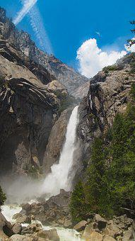 Waterfall, Yosemite, Nature, Falls, Water, California