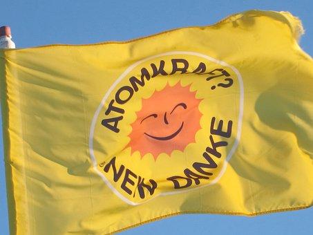 Flag, Blow, Wind, Flutter, Energy, Atomic Energy