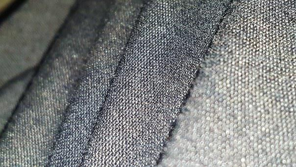 Cloth, Texture, Gray, Creases, Folds, Tone, Weave