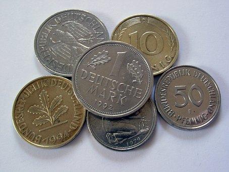 German Mark, Money, Penny, Coins, Germany, German, Dm