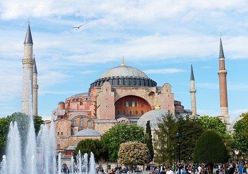 Hagia Sophia, Istanbul, Turkey, Minaret, Church