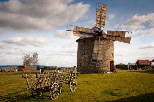Mill, Car, Flour, History, Architecture, Přemyslovice