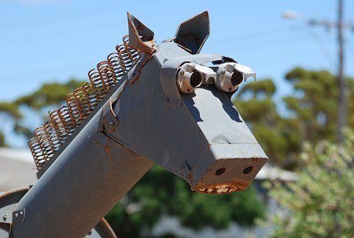 Horse, Sculpture, Sheet, Weld, Welded, Hyden, Australia