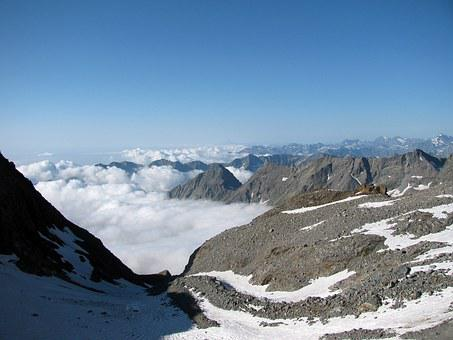 Gran Paradiso, Glacier, Mountain, Crevices, Ice, Alps