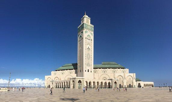 Casablanca, Morocco, Mosque, Islam, Religion, Arab