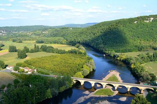River, Bridge, Island, Dordogne