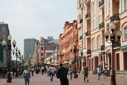 Arbat, Historic, Pedestrian Walk, Lamp Pole