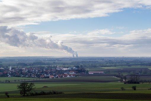 Nuclear Power Plant, Landscape, Gundremmingen
