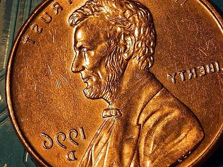 Macro, Coin, Lincoln, Copper, Cents, Penny, Coins