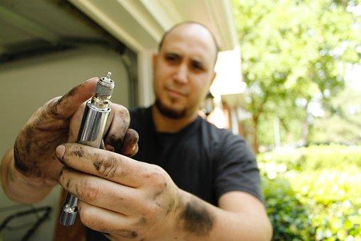 Dirty Hands, Man, Work, Male, Repair, Spark Plug