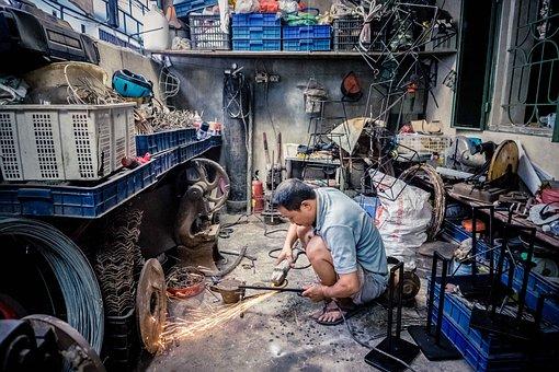 Worker, Steel, Industry, Metal, Construction