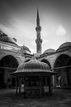 Istanbul, Cami, Mosque, The Minarets, Eminönü, Light