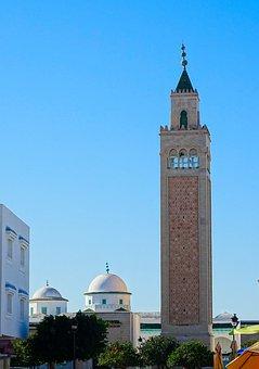 Architecture, Minaret, Dome, Mosque, Tunisia, Tunis