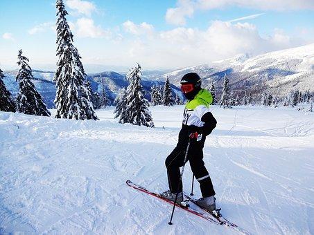 Alpine Skier, Winter, Skis, Snow, Mountains, Slovakia