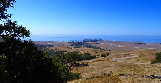 Serpentine Road, View, Ocean, Pacific, Coastline, Road