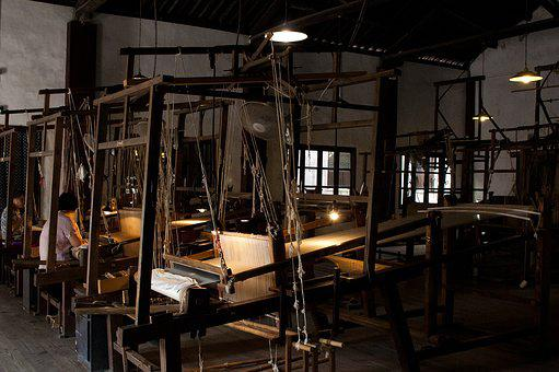 Wuzhen, Brocade Silk Weaving, Old, Technology, Wooden