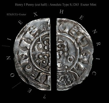 Henry I, King, England, Penny, Hammered, Coin, Old