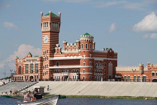 City, Yoshkar-ola, Sights, Russia, Red Brick, Castle