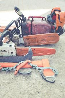 Chainsaw, Saw, Hack, Wood, Harvest, Forest Work, Axe
