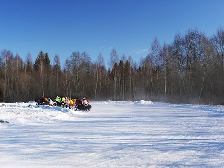Skijoring, Fast, Acrobatic, Race, Winter Sports, Action