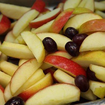 Apple, Grape, Fruit Salad, Chopped, Fruit, Sliced