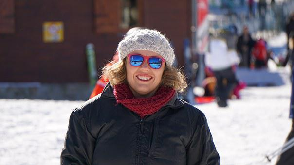 Skier, Girl, La Molina, Snow, Winter Sports, Tracks