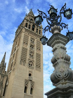 Cathedral, Seville, Spain, Andalusia, Giralda, Tower