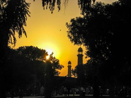 Sunset, Mosque, Islam, Architecture Silhouette