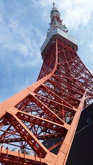 Tokyo Tower, Shiba, Minato-ku, Tokyo, Japan, Tower, Red