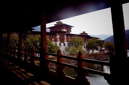 Punakha, Dzong, Bhutan, Travel, Buddhism, Asia