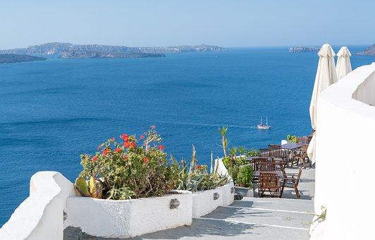 Santorini, Oia, Greece, Walkway, Path, Travel, Summer