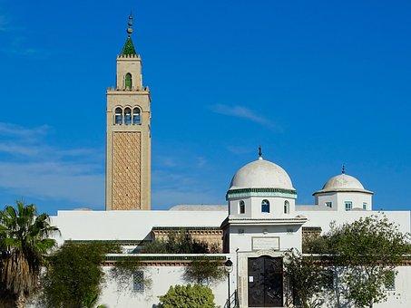 Architecture, Dome, Minaret, Mosque, Tunisia, Tunis