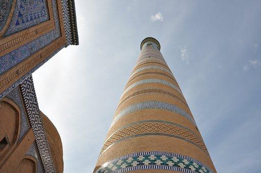 Uzbekistan, Khiva, Minaret