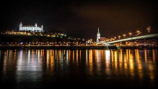 Bratislava, The Danube, River, Castle, View