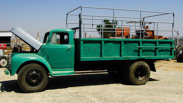 Old Truck, Vintage, Antique, Retro, Repaired, Green