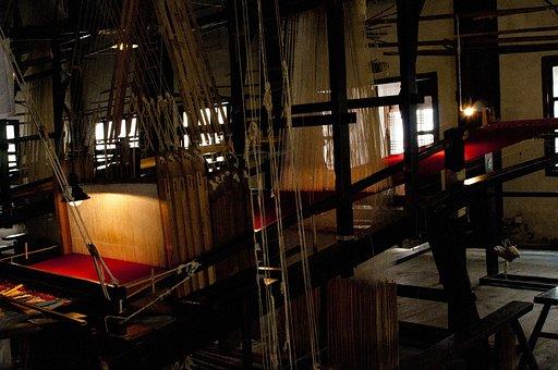 Wuzhen, Brocade Silk Weaving, Old, Technology, Wooden