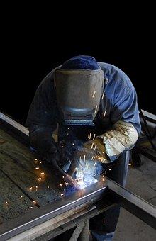 Welder, Worker, Metal, Industrial, Manufacturing