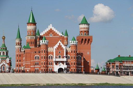 Russia, City, Yoshkar-ola, Sights, Red Brick, Castle