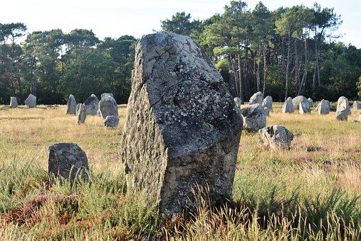 Alignments, Carnac, France, Brittany, Mégalithe, Stones