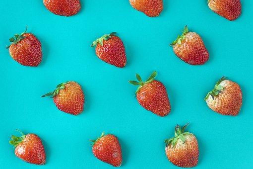 Background, Berry, Blue Background, Closeup, Color