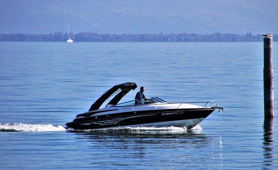 Water Surface, Lake, Motorboat, Boat, Speed