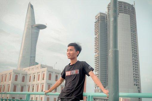 Saigon, Vietnam, Bitexco, Boy, District, Nice, Bridge